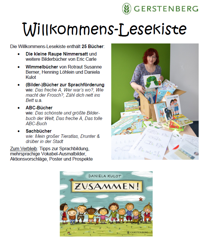 Wilkommens-Lesekiste